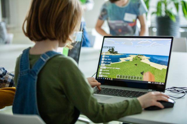 Bibliotheek van de toekomst in Minecraft