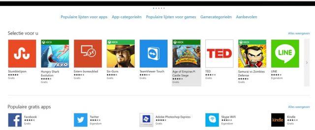 Werken met apps in Windows 10
