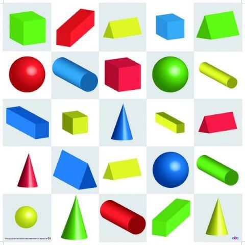 Bee-Bot mat- Vormen & kleuren 3D- leren van vormen en kleuren