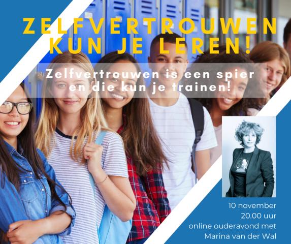 Online masterclass: Het zelfvertrouwen van een puber - Marina van der Wal