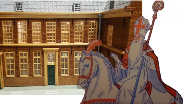 Sinterklaas in het Weeshuis