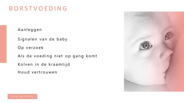 Online voorlichting: Borstvoeding