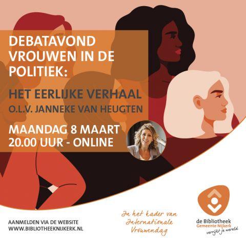 Online Debatavond: Vrouwen in de politiek: het eerlijke verhaal