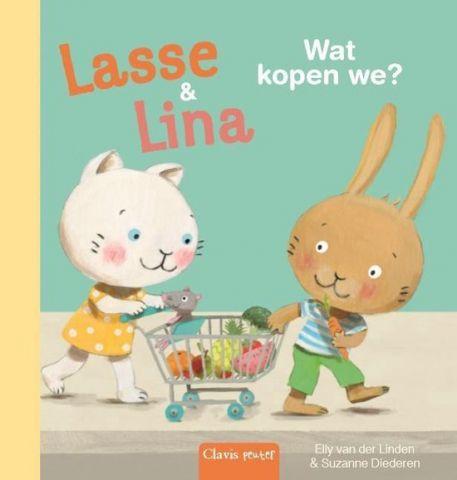 Boekenpretkist: Lasseen Lina, wat kopen we ?–Elly van der Linden