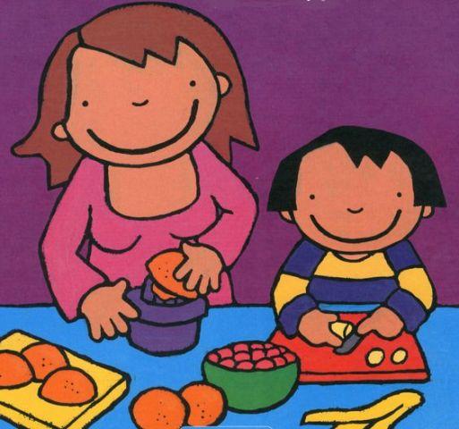 Anna eet graag fruit - door Kathleen Amant