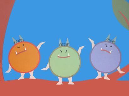 De gulzige ronde duiveltjes