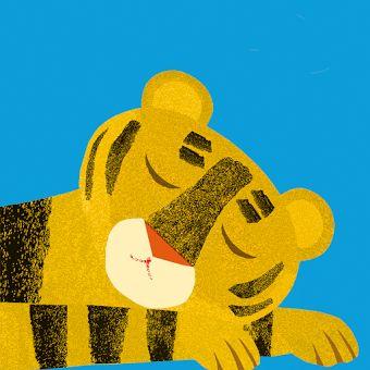 Kamishibai: Ssst! de tijger slaapt. - Naar het boek van Britta Teckentrup
