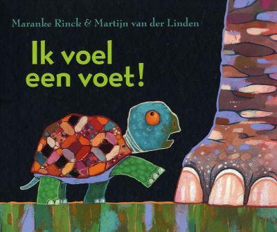 Schild-Muis-Octo-Vogel-Bok  - Naar het boek Ik voel een voet van Maranke Rinck en Martijn van der Linden