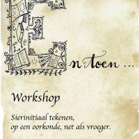 Workshop mooie letters tekenen, net als vroeger....