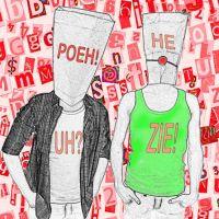 Poëzie en Kunst. Poeh! He.. Uh? Zie!