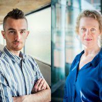 Tommie Niessen en Loes Wouterson in gesprek