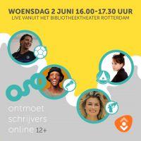Ontmoet Schrijvers Online - Jeugdeditie 12+ 02-06-2021 16:00