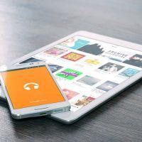Android Café met tablets en smartphones