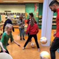 Voetbalexperience in de bieb